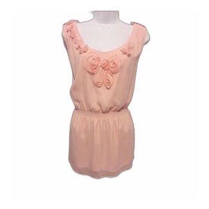 Gianni Bini Pink Chiffon Sleeveless Top